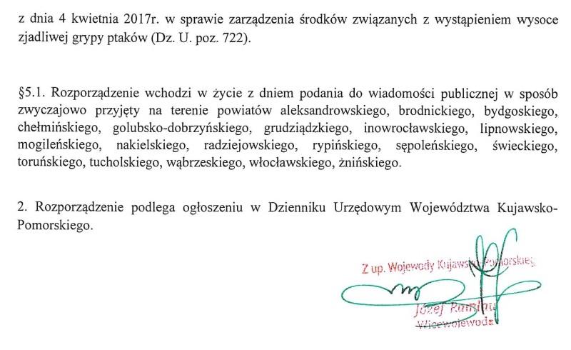 Rozporządzenie Wojewody Kujawsko-Pomorskiego